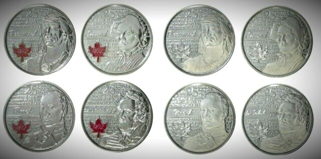 Canada 2012 / 2013 War of 1812 8 Coin Commemorative Quarter Set!!