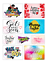 thumbnail 1 - Rectangle-Large-Stickers-Letterbox-Postal-Sweets-Birthday-Party-Bag-Cone-Gift