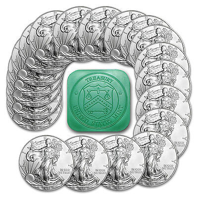 SPECIAL PRICE! 2015 1 oz Silver American Eagle BU (Lot, Roll, Tube of 20)