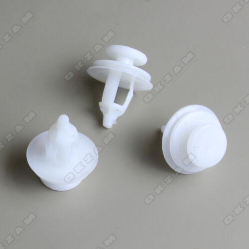 CITROEN C3 DOOR TRIM PANEL PLASTIC CLIPS x10 WHITE REPAIR PIECES