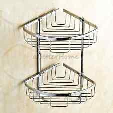 Restoration Hardware Metropole Bath Small Wire Corner Shelf Basket Chrome NEW