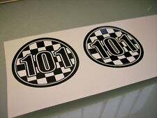 """CLASSIC EMBLEM TANK AUFKLEBER """"GLEMSECK 101"""" SR500 CAFE-RACER STARTNUMMER RACING"""
