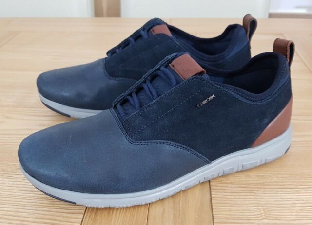 Geox Respira Men's Xunday 2Fit A Navy Suede and Wax Casual Lace Up Trainers UK 6