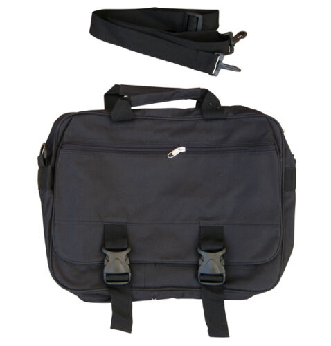 Mens Travel Shoulder Messenger Laptop Satchel Tote A4 Document Man Bag Black New