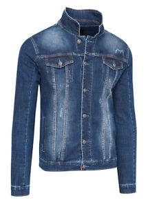 giacca di jeans lunga uomo