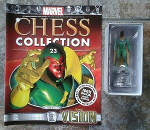 MARVEL CHESS COLLECTION ISSUE 23 THE VISION EAGLEMOSS FIGURINE MAGAZINE