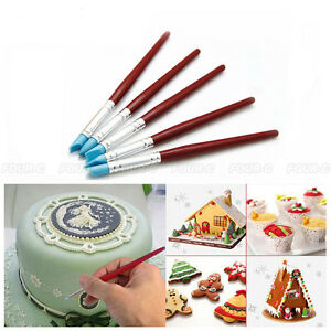 5 pcs Silicone Cake Decorating Pen Set Food Paint Icing ...