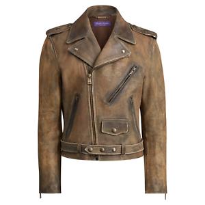 good texture 2019 professional street price Details about $3,495 Ralph Lauren Purple Label Mens Slim Locklear Leather  Biker Moto Jacket