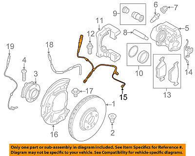 GENUINE BMW F15 F16 E70 E71 Front Brake Pad Sensor ORIGINAL OEM 34356792567