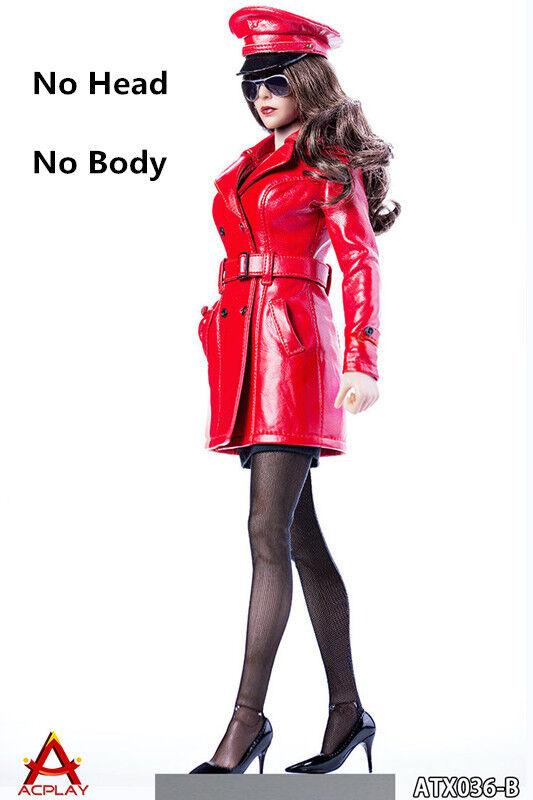 ACPLAY 1 6 Red Leather Coat Clothing ATX036B Set F 12'' Female Figure Body Gifts