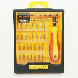 32 in 1 Reparatur Set Feinmechaniker Schraubendreher Set Werkzeugset für Handy