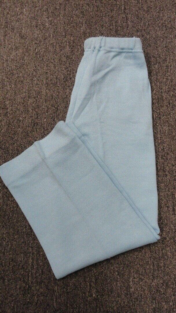 ST. JOHN SPORT Light bluee Wool Elastic Waist Straight Leg Pants Sz S GG4520