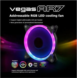 Details about Akasa Vegas AR7 Addressable RGB Fan - 120mm