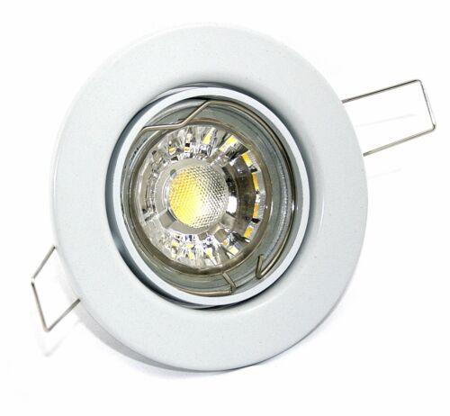 LED Decken Strahler Lampen 230V 5W=50W dimmbar Einbau Spots 5-15er Set TOM IP20