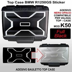 adesivo top case bauletto BMW R1200 GS R1250 GS Nero Opaco K50 dal 2013 FULL BLK