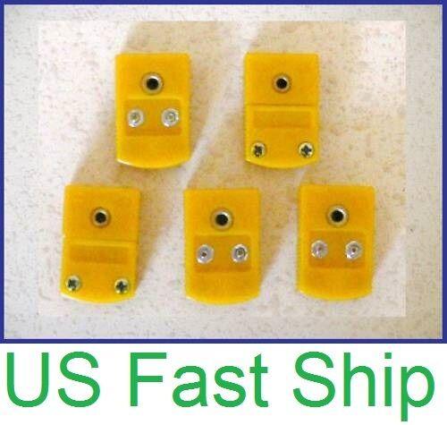 5 Female Flat Pin K-Type Thermocouple Wire Connector Socket Miniature Sensor