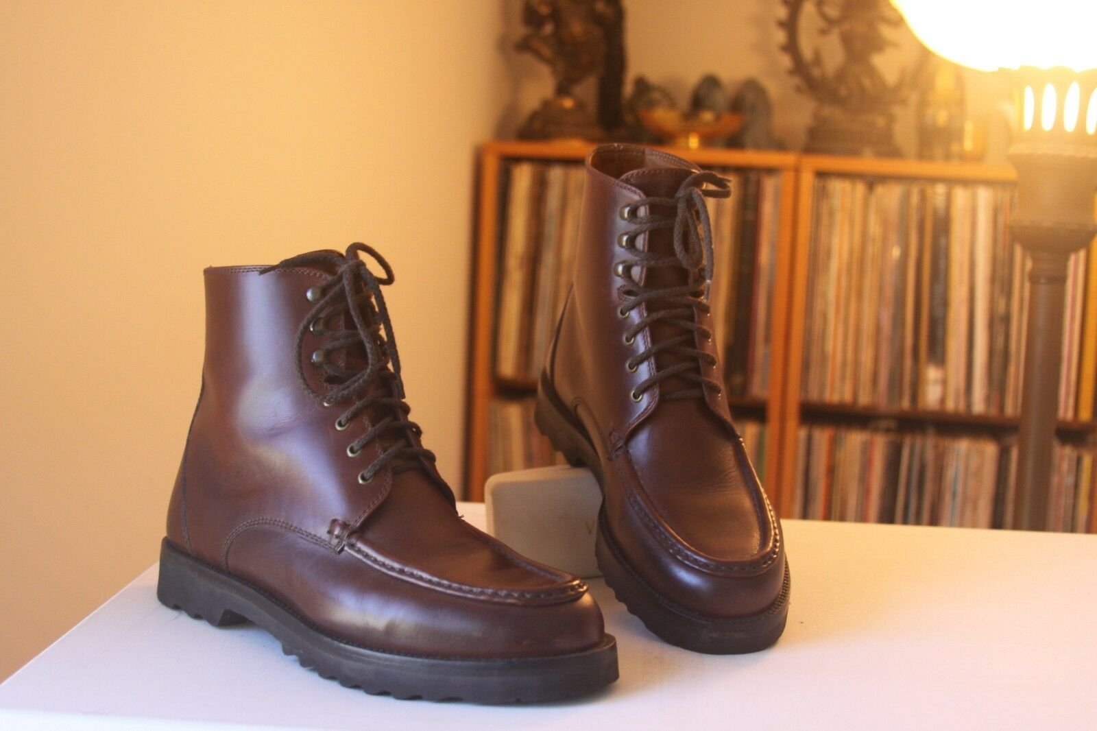 Cole Haan 1145 Brown Leather 7 1 2 Inches Tall Lace Up Boots Men's Size 8 D