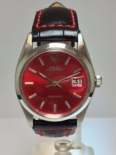"Genuine Vintage Rolex Steel Precision Oyster Date Model 6694 ""RED STELLA DIAL"""
