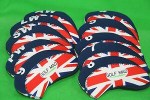 10-Golf-Mad-Neoprene-Golf-Iron-Head-Covers-Union-Jack-Flag-Iron-Headcovers