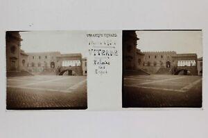 Viterbo Palais Dei Papi Italia Placca Da Lente Stereo Vintage 1938
