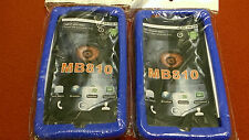 2 Pack Motorola Droid X MB810 Droid X2 MB870 Silicone Gel Rubber Blue Case Skin