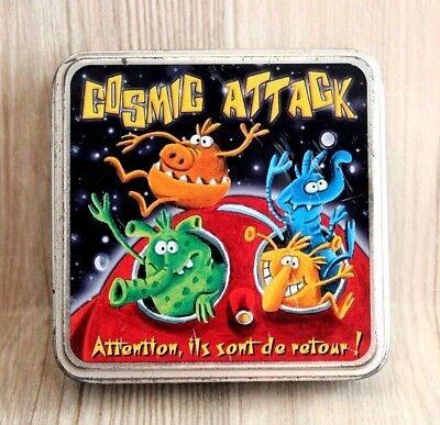 Jeu De Société Cartes Amusant - Cosmic Attack - Extraterrestres Boîte Métallique