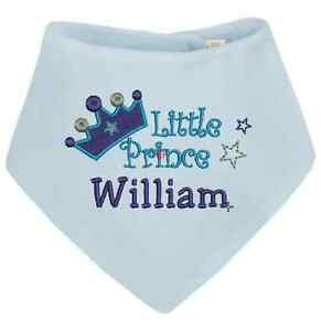 choice of colours Personalised Bib Princess or Prince Bandana Bib