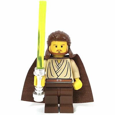 Lego QUI-GON JINN Minifigure Star Wars  7101 7121 7161 7171 W// Cape Lightsaber