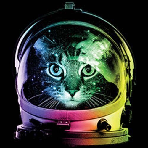 Space Cat T Shirt Neon Funny Kitten Astronaut Sm to 6XL Big Tall