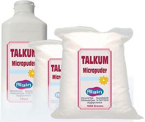 Pharma-TALKUM-Speckstein-Babypuder-1-kg-Clip-Beutel-Weisspigment-Latexpflege