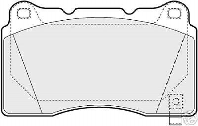 MITSUBISHI EVO V VIII BREMBO Cal.Front Brake Pad set
