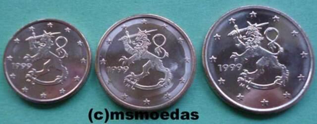 Finnland 1+2+5 Euro-Cent Münzen Euromünzen coins moedas Jahr nach Wahl
