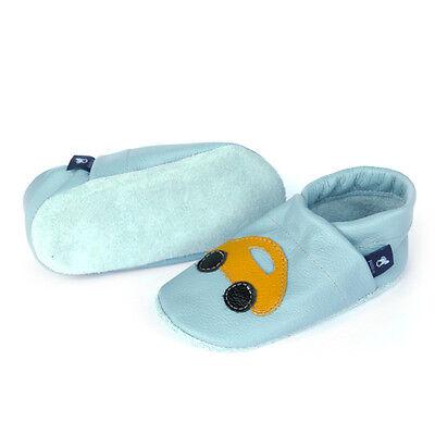 pantau.eu Leder Babyschuhe Lauflernschuhe Krabbelschuhe Hausschuhe mit Auto