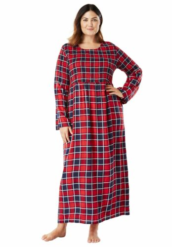 52/' Length Women/'s Plus Size Long Lightweight Rayon Flare Sleeve Smocked Lounger