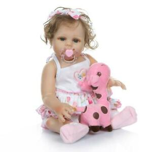 "19"" Full Body Vinyl Silicone Reborn Girl Baby Doll ..."