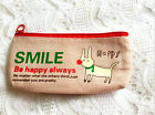 Cute canvas animal pen pencil case bag coin pouch make up purse cosmetic holder