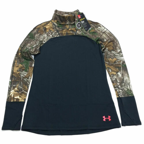 Under Armour Tevo Cozy Neck Pullover M Turtleneck Camo Hunting Womens NWT $80