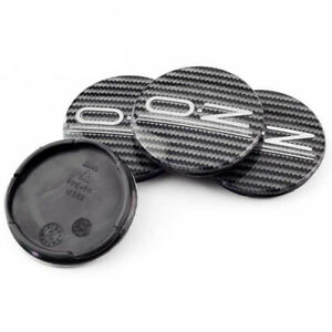 4x-55mm-OZ-Racing-Nabendeckel-Felgendeckel-Acryl-Carbon-M582-fuer-Ultraleggera