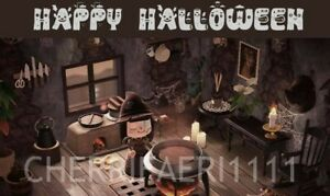 ACN H New Horizons indoor Halloween SPOOKY living room Set ... on New Horizons Living Room  id=51466