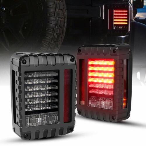 For 2007-2017 Jeep Wrangler LED Clear Tail Light JK Rear Reverse Brake Turn Lamp