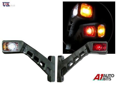 2 X SMD LED 12//24v Farbe Rot Bernstein und Weiß Licht Umriss Anhänger Lkw