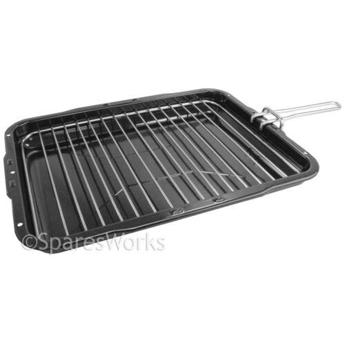 Zanussi Premium Vitreous Enamel Grill Pan /& Detachable Slide Handle 385X300mm