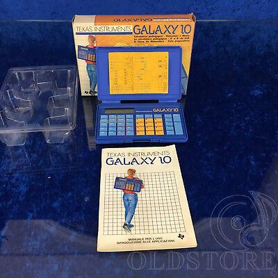 ►texas Instruments Galaxy 10◄ Calcolatrice Pedagogica Da Collezione 1987 Italy