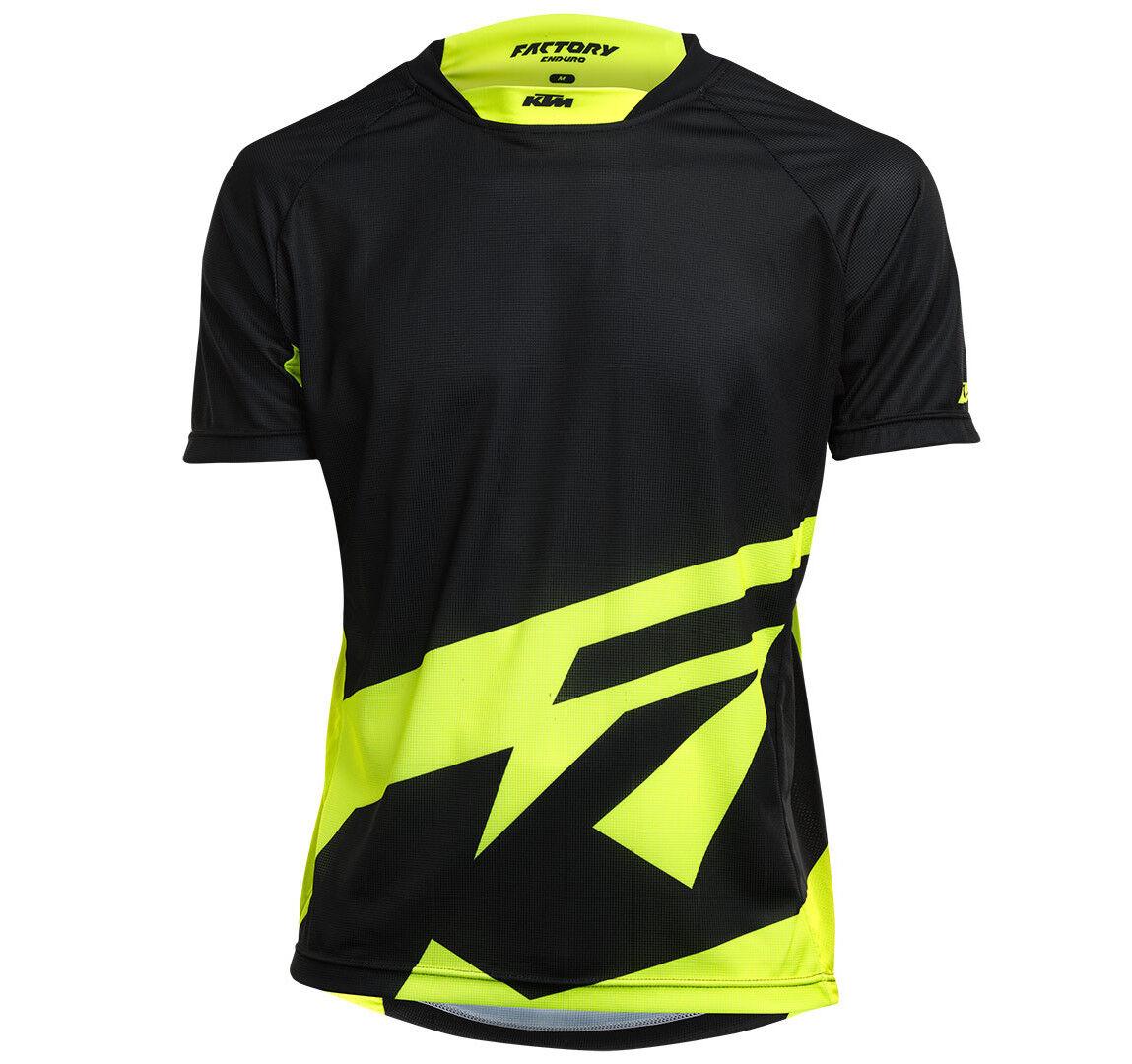 NEU  KTM Shirt kurzarm Factory Enduro Fahrrad Gr. XL Schwarz-Gelb Trikot