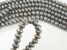 6 to 6.5mm Peacock Button Freshwater Pearl, Genuine Freshwater Pearl Beads (#54)