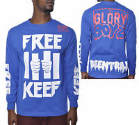 Been Trill X Glory Boyz Free Keef Long Sleeve Shirt Blue Men's Streetwear Top