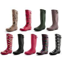 Ladies Girls Wellington Boots Fashion Festival Womens Waterproof Wellies Size