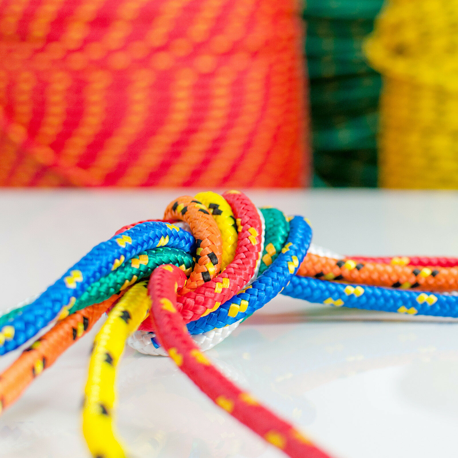 12mm POLYPROPYLENE ROPE braided polyrope weatherproof durable cord synthetic