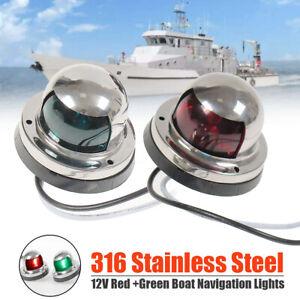 Marine-Boat-Yacht-LED-Bow-Navigation-Light-12V-Stainess-Stee-LED-Lights-AU-039