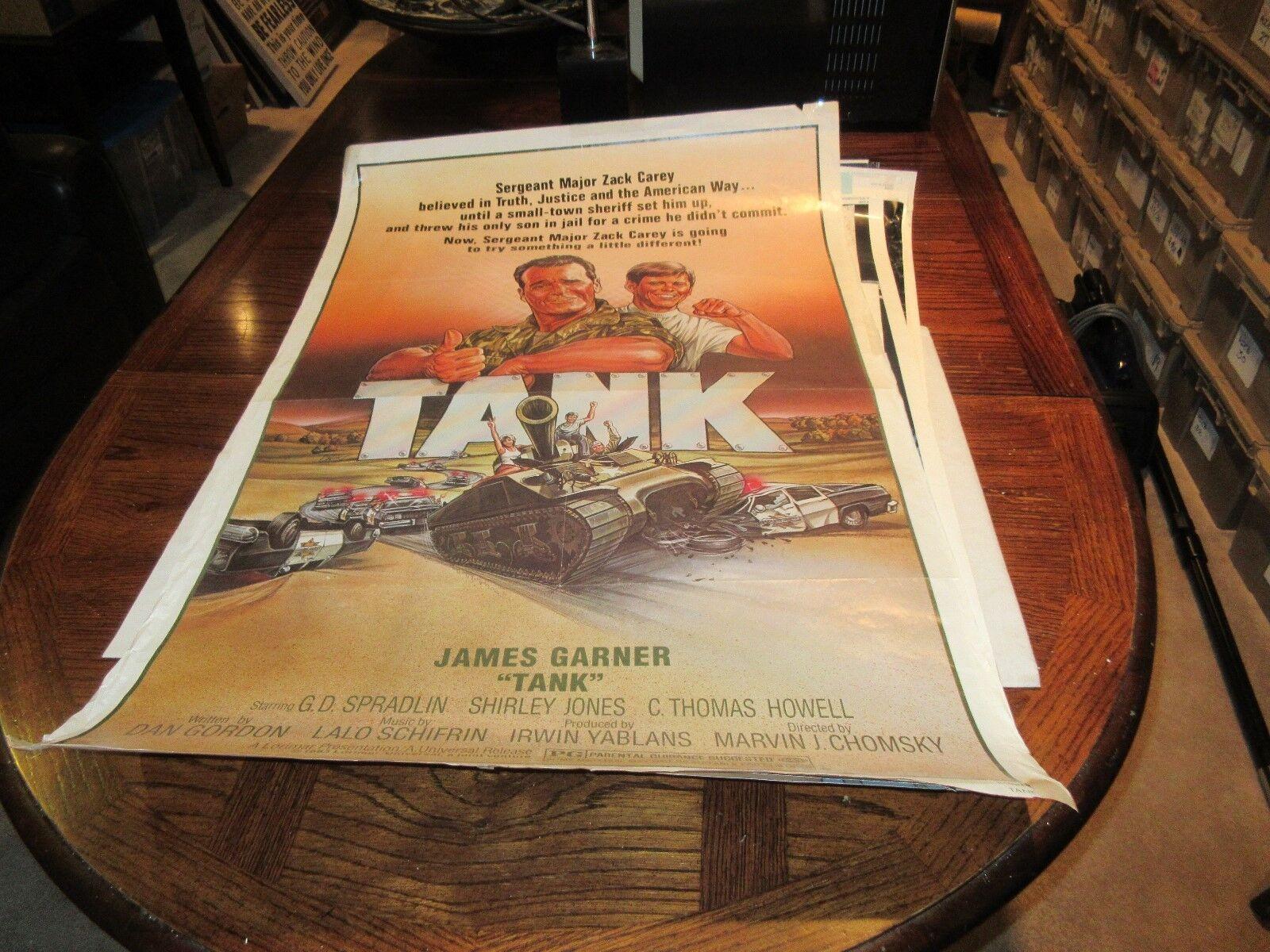 "Tank , POSTER , 27"" X 40"" . James Garner , 1983"